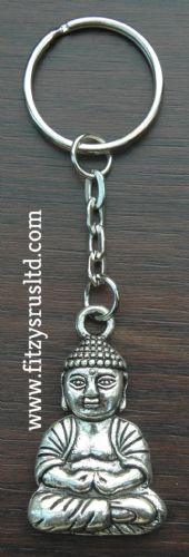 Large Buddha Metal Keyring Holy Buddhism Buddhist Religious Key Ring